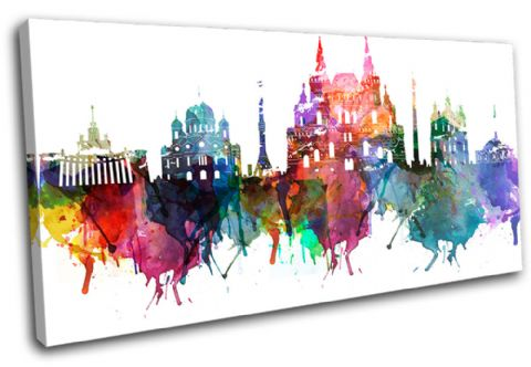 Moscow Watercolour  Abstract City - 13-6036(00B)-SG21-LO